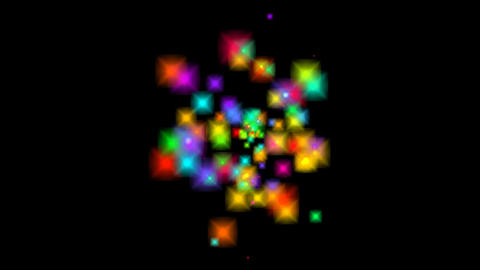 Multicolored stars fly, animation with alpha channel Animation