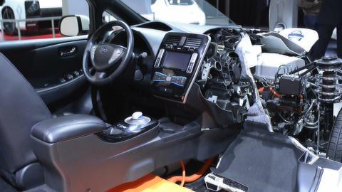 Nissan Leaf full electric car Live Action