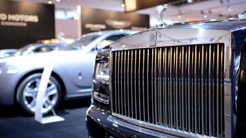 Rolls Royce Ghost front grille Footage