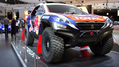 Peugeot 2008 DKR Paris-Dakar rally car Footage