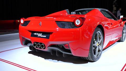 Ferrari 458 Spider sports car Footage