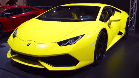 Lamborghini Huracan sports car front view Footage