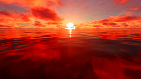 Red Sunset Animation