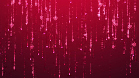 Dark Pink Romantic Rain CG動画素材