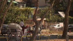 A carriage on the street Footage
