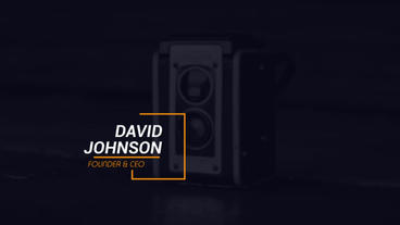 Clean Lower Thirds After Effects Project
