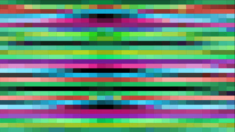 Abstract video background with pixel texture, colorful trapezoid and rectangle s Animation