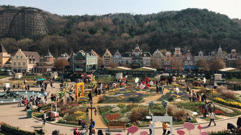 Amusement park landscape Footage