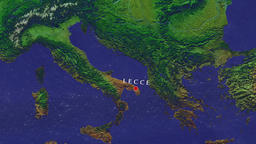 Lecce - Italy zoom in from space Animation