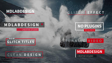 Modern Glitch Titles After Effects Project