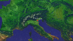 Padua - Italy zoom in from space Animation