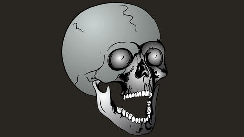 Collapsible skull Animation