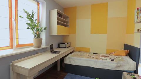 Home interior walk through bedroom.modern apartment Live Action