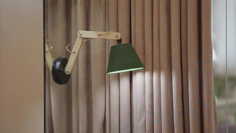 Home interior walk.modern apartment. Lamp Footage