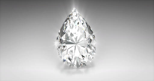 Pear Cut Diamond CG動画素材
