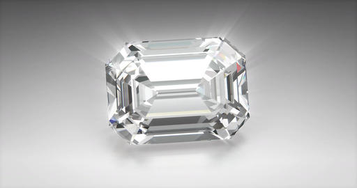 Emerald Cut Diamond Animation
