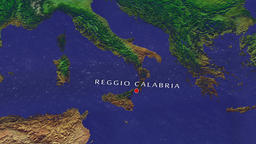 Reggio Calabria - Italy zoom in from space Animation