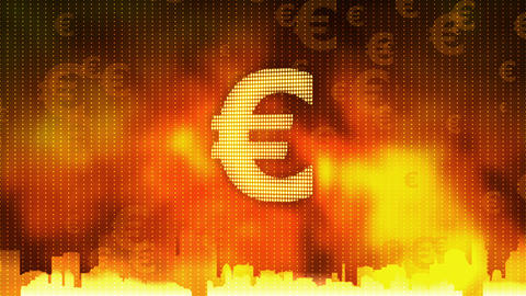 Euro sign rotating. World economy, money circulation, business, stock market Footage