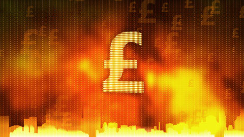 Pound sign rotating. World economy, money circulation, business, stock market Footage