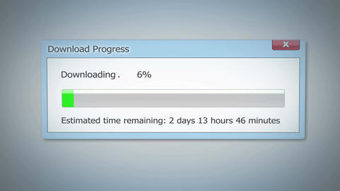 Super slow Internet, downloading dialog box shows little progress, outdated tech Footage