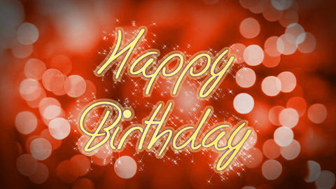 Happy Birthday message on romantic background, creative greeting, congratulation Footage