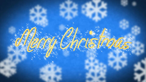 Winter themed Merry Christmas congratulation message, creative shiny greeting Live Action