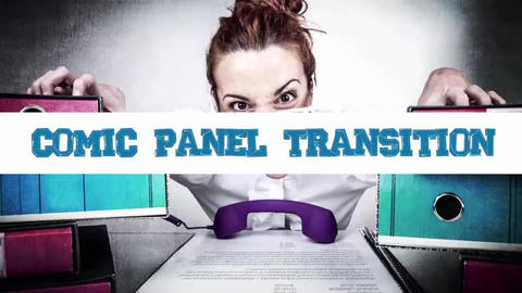Comic Panel Transition After Effects Template