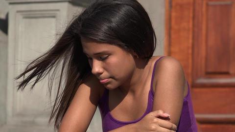 Sad Teenage Girl Footage