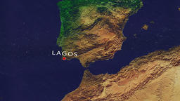 Lagos - Portugal zoom in from space Animation