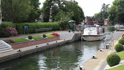 Marlow Lock Marlow Buckinghamshire UK Footage