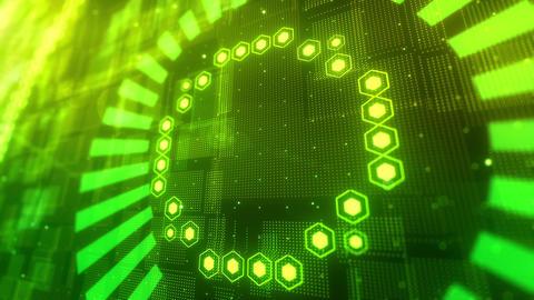 SHA DigitalBG UI Green Animation