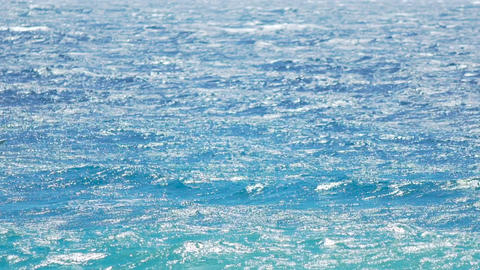Risky windsurfing, athletic man gliding across azure... Stock Video Footage