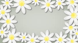 Floral background with rotating flowers Animation