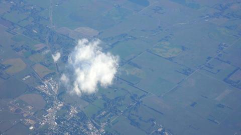 Aerial shot of flying through Europe in 4K Footage