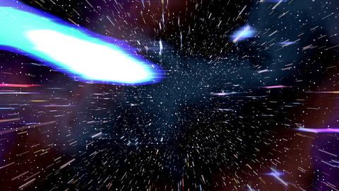 Space warp speed hyperspace travel through starfield nebula 4K Footage