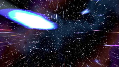 Space warp speed hyperspace travel through starfield nebula 4K Footage