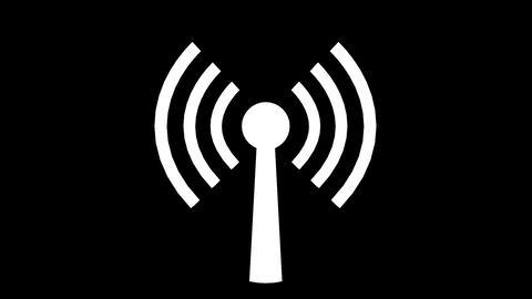 Wifi Wireless Internet Network Net Web Connection Icon Logo Wi-fi Wi Fi 4k stock footage