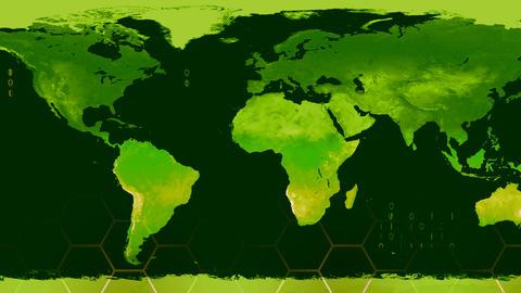World map high tech digital satellite data view war room 4K Footage