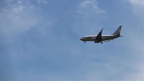 Passenger plane approaching the destination airport 01 Footage