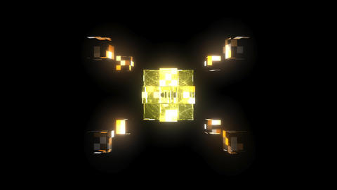 3D Glass Cubes - 10 Second Loop Stock Video Footage