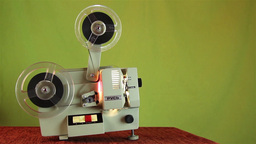 Old Film Projector Brought To Life For Projection Private 1 stock footage