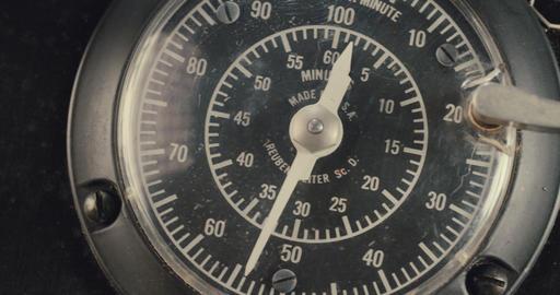 Macro shot of vintage electrical dials Footage