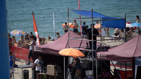 Cameraman On The Beach Footage