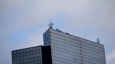Clouds Over Office Buildings Footage