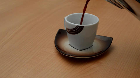 Coffee Poured into Small Cup Footage