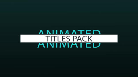 18 Elegant Titles Pack After Effects Template