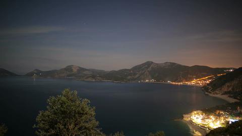 Fethiye Oludeniz Turkey Night Scene ビデオ