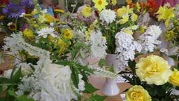 Theydon Bois village flower show Essex UK Filmmaterial