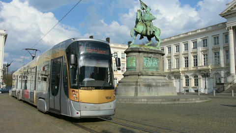 A tram in Brussels Live Action