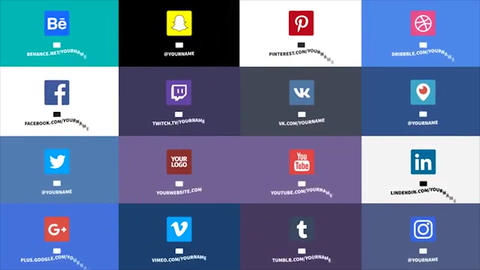 16 Social Media Titles After Effects Template